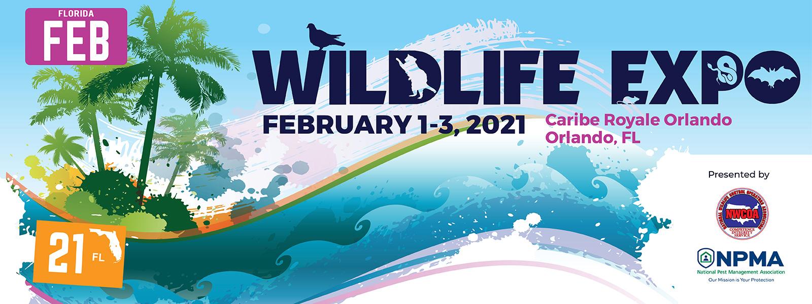Bannière de l'exposition WildLife Expo 2021