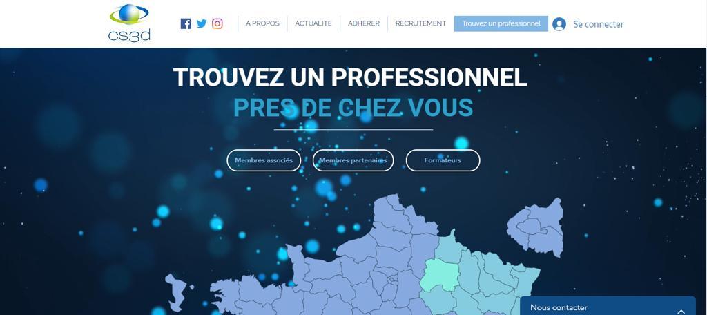 Nouveau site de la CS3D : un outil pour trouver un professionnel dans sa région