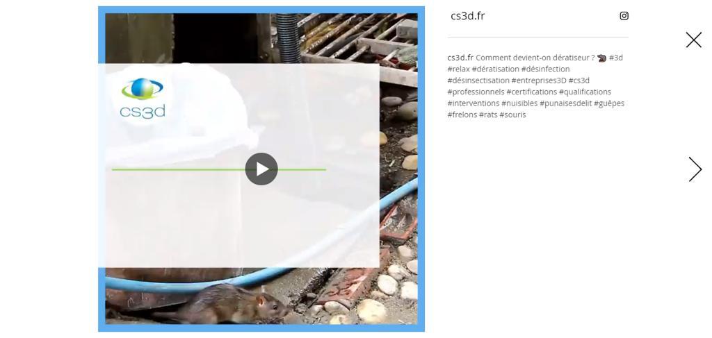 CS3D : des vidéos sont présentes sur le nouveau site