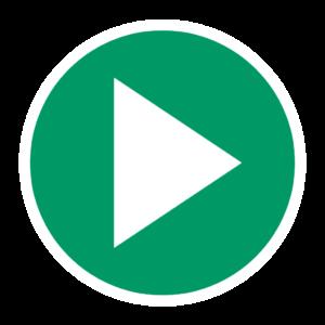 bouton de lecture vert